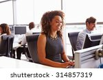 call centre staff working in an ... | Shutterstock . vector #314857319