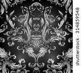 vintage baroque floral pattern. ... | Shutterstock .eps vector #314859548