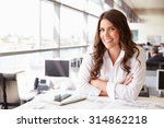 female architect at her desk in ... | Shutterstock . vector #314862218