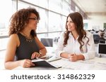 two women working together at... | Shutterstock . vector #314862329