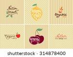 set of vintage organic food... | Shutterstock .eps vector #314878400