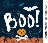 "halloween message ""boo ""  ... | Shutterstock .eps vector #314880764"