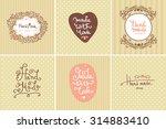 set of vintage hand made... | Shutterstock .eps vector #314883410