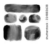 black watercolor banners and...   Shutterstock . vector #314883638