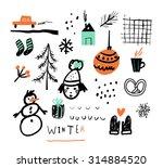 hand drawn vector illustration... | Shutterstock .eps vector #314884520