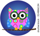 owl animal bird cartoon | Shutterstock .eps vector #314886134