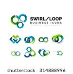 set of infinity concepts  loop... | Shutterstock .eps vector #314888996