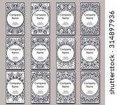 set of  business cards. vintage ...   Shutterstock .eps vector #314897936