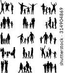 family silhouettes. | Shutterstock .eps vector #314904869