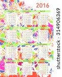 2016 calendar design. calendar...   Shutterstock .eps vector #314906369