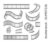 slide film frame set  film roll ... | Shutterstock .eps vector #314907218