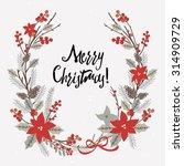 Christmas Greeting Card. Merry...