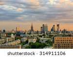Warsaw City Center At Sunset....