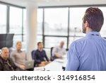 business man making a...   Shutterstock . vector #314916854