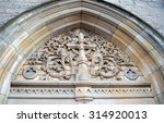 Carving Of Celtic Cross And...