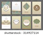 stock vector set of brochures... | Shutterstock .eps vector #314927114