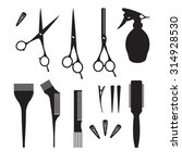 hairdressers professional tools.... | Shutterstock .eps vector #314928530