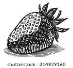 vintage strawberry engraving... | Shutterstock .eps vector #314929160