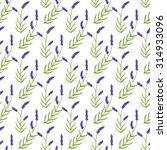 lavender. seamless pattern with ... | Shutterstock . vector #314933096