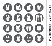 clothes icons. vector signs....