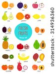 collection of colorful fruits.... | Shutterstock .eps vector #314936360