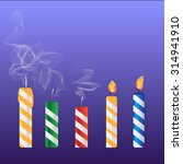 set of colored birthday candles ... | Shutterstock .eps vector #314941910