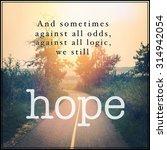 inspirational typographic quote ... | Shutterstock . vector #314942054