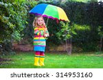 Little Girl With Colorful...
