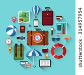 travel background with icons of ... | Shutterstock .eps vector #314957954