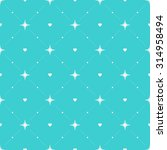 seamless pattern with hearts... | Shutterstock .eps vector #314958494