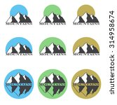 colored logos  icons mountain... | Shutterstock .eps vector #314958674