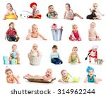 collection photos of cute... | Shutterstock . vector #314962244