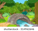 Illustration Of Rural Landscape ...