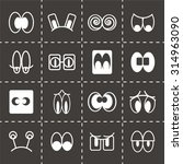 vector cartoon eyes icon set on ...