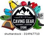 vector caving gear store emblem ...   Shutterstock .eps vector #314967710