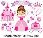 pink flower princess | Shutterstock .eps vector #314969480
