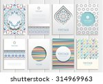 stock vector set of brochures... | Shutterstock .eps vector #314969963