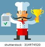 chief cook. flat vector... | Shutterstock .eps vector #314974520