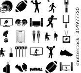 Football Season Symbols Set
