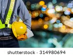 engineers holding a yellow...   Shutterstock . vector #314980694