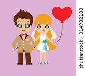 illustration of lovely sweet... | Shutterstock .eps vector #314982188