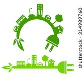 an image of a green energy city ... | Shutterstock .eps vector #314989760