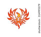 phoenix vector template | Shutterstock .eps vector #314995379