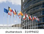 Europarliament. Flags Of The...