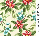 floral seamless pattern with... | Shutterstock .eps vector #315016694
