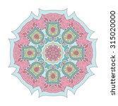 hand drawn boho mandala circle | Shutterstock .eps vector #315020000