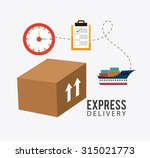 delivery transport and... | Shutterstock .eps vector #315021773