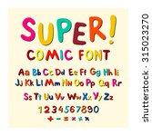 wow. creative high detail font... | Shutterstock .eps vector #315023270