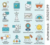 vector set of icons related to... | Shutterstock .eps vector #315025199