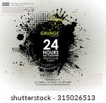 poster grunge background vector.... | Shutterstock .eps vector #315026513